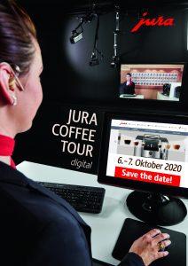Die Schulungen zur JURA Coffee Academy Tour 2020 werden aus dem Schulungs- und Live-Beratungs-Studio im JURA-Headoffice in Niederbuchsiten in Form eines Webinars übertragen, womit deutlich mehr Mitarbeiter erreicht werden können, als in einer herkömmlichen Schulung.