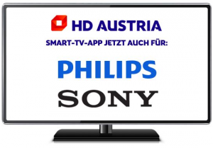 Die HD Austria Smart-TV-App ist nun auch auf Geräten von Philips und Sony ab Android-Version 7 verfügbar.