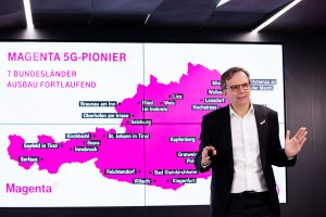 Im Frühjahr bei der Präsentation des Jahresergebnisses waren die Ausbaugebiete noch recht begrenzt. Heute kann Magenta Telekom CEO Andreas Bierwirth eine Netzabdeckung von fast 25% der österreichischen Bevölkerung verkünden.