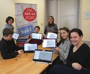 Vorreiter bei der Digitalisierung des Unterrichts mit Hilfe des Angebots von Magenta Telekom ist die HAK1 in Klagenfurt.