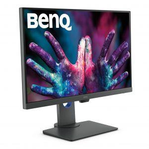 Mit dem PD2705Q bringt BenQ einen Profimonitor mit hoher Farbtreue sowie Features für das ergonomische Arbeiten auf den Markt.