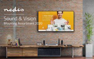 """Nedis präsentiert den neuen Katalog """"Sound & Vision, Mounting Assortment"""" mit den verschiedensten Wandhalterungen auf 52 Seiten."""