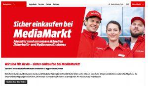 Auf Grund der aktuellen Covid-19-Entwicklung erhöht MediaMarktSaturn in Österreich wieder die Schutz- und Hygienemaßnahmen in den Märkten. (Bild: Screenshot mediamarkt.at)