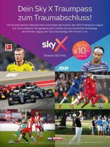 6 Monats-Traumpass: Um nur 10 Euro pro Monat bekommen Sportfans ab 1. August für ein halbes Jahr das komplette Sky Sport Angebot.