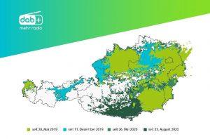 Mit dem heutigen 25. August können bereits 83% der österreichischen Bevölkerung digitalen Klang empfangen.