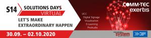 Interaktive Plattform, Virtual Experience, Trends & Neuheiten – heuer lädt COMM-TEC erstmals zur virtuellen Ausgabe des S14 Solution Days.