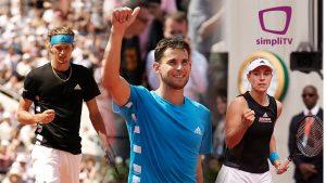 Mit simpliTV SAT Plus sehen Tennisfans auch in diesem Jahr die Matches am Center Court von Roland-Garros in UHD.