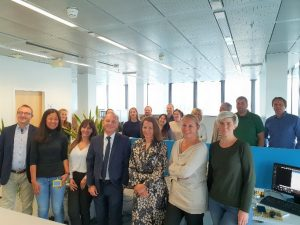 Das Gorenje-Team im neuen Office.
