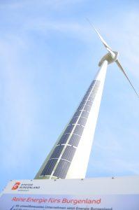 Die Energie Burgenland hat gemeinsam mit dem PV-Hersteller DAS Energy in Weiden am See ein innovatives Projekt realisiert: PV-Module auf dem Windrad sorgen für die besonders effektive Erzeugung von sauberem Strom.