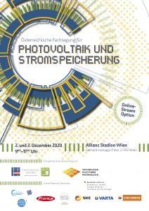 Nach der gelungenen Premiere im Vorjahr steht Anfang Dezember die Fortsetzung der Österreichischen Fachtagung für Photovoltaik und Stromspeicherung am Programm – heuer physisch und online.