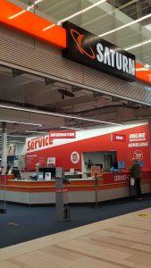 Saturn wurde zu MediaMarkt. Die Umwandlung erfolgte während des laufenden Geschäftsbetriebes.