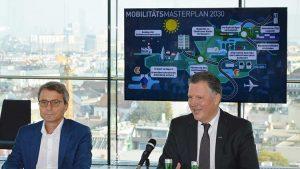Spartengeschäftsführer Erik Wolf (li.) und Spartenobmann Alexander Klacska stellten den Mobilitätsmasterplan 2030 der Verkehrswirtschaft vor.