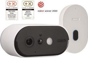 """Die WLAN Akku Cam von ABUS wurde beim Plus X Award als """"Bestes Produkt des Jahres 2020"""" ausgezeichnet."""