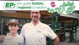 """Die Kampagne """"EP:Ein gutes Gefühl, regional zu kaufen!"""" wird mit neuen TV-Imagespots forciert."""