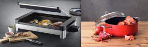 """Die Hausgeräte-Zeitschrift """"Küche & Haushalt"""" hat erstmals die """"Geräte des Jahres 2021"""" gekürt. Dazu zählen auch zwei Produkte der WMF Group: der WMF Lono Tischgrill mit Glasdeckel und der Silit Schmortopf Energy Red."""