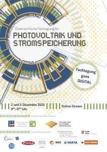 Die zweite Auflage der Österreichischen Fachtagung für Photovoltaik und Stromspeicherung geht Anfang Dezember als reines Online-Event über die Bühne.