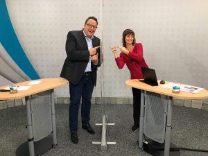 Hannes Katzenbeisser und ORF-Moderatorin Evelyn Vysher.