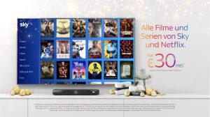 Die diesjährige Sky Q Weihnachtskampagne rückt das Fernseherlebnis für die ganze Familie in den Mittelpunkt.