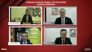 Arçelik und Hitachi GLS wollen in der WW ihre Kräfte Bündeln. Den heutigen Zeiten entsprechend fand die Unterzeichnung der Joint Venture-Vereinbarung per Web-Konferenz statt.