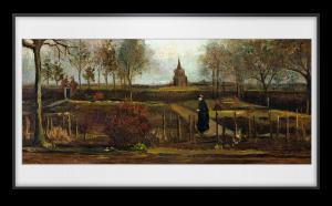 Der Pfarrgarten von Nuenen im Frühjahr (1884) ist eines der gezeigten verschwundenen Meisterwerke.