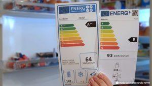 Ab 1.3.21 gilt ein neues Energielabel für viele große Hausgeräte. Das Bundesgremium veranstaltet mit der AEA ein Webinar für Händler zu diesem Thema. (Bild: Verbraucherzentrale NRW)