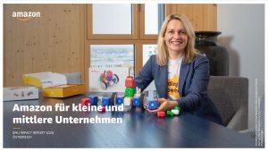 """Vor kurzem wurde der Report """"Amazon für kleine und mittlere Unternehmen 2020"""" für Österreich vorgestellt. Hier werde gezeigt, wie sich die Zusammenarbeit für die unabhängigen Unternehmer bezahlt gemacht habe, sagt Amazon. (Bild: Amazon Report)"""