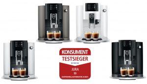 Die Siegesserie von JURA hält an. 2021 konnte der Schweizer Kaffeevollautomaten-Hersteller mit der E6 den ersten Platz beim Vergleichstests des Maganzin erringen.