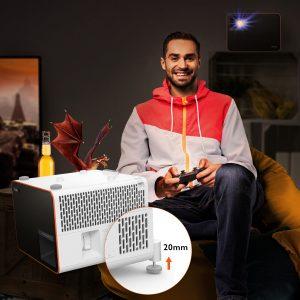 BenQ X1300i – der Gaming Beamer mit 4LED Lichtquelle für Gaming-Sessions im Großformat.
