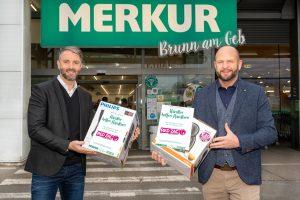Red Zac-Vorstand Brendan Lenane und Vertriebsvorstand Billa-Merkur Harald Meißner. (Foto: R. Harson)
