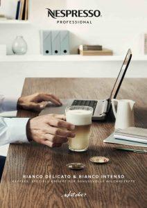 """Nespresso Professional präsentiert zum Jahresstart die zwei neuen Kaffeesorten """"Bianco Delicato"""" und """"Bianco Intenso""""."""