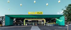 Aus Merkur wird Billa Plus. So werden die neuen Billa Plus-Filialen künftig aussehen (Bild: REWE Group)