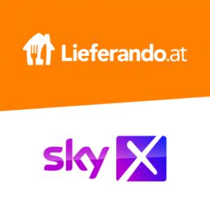 Im Aktionszeitraum 12. bis 28.02.2021 schenkt Lieferando.at in Österreich seinen Konsumenten bei jeder Bestellung ab 20 Euro einen Sky X Fiction & Live TV Gutschein für einen Monat.