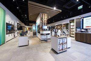 Im Inneren des Stores gibt es für die Kunden in Sachen große und kleine Hausgeräte viel zu entdecken.