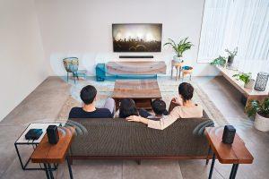 Dank echtem Surround-Sound versetzt das Soundsystem HT-S40R von Sony Zuschauer mitten in ihre Lieblingsfilme.