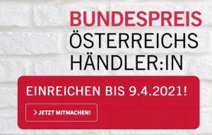 Wer ist der beliebteste Händler im ganzen Land? 2021 wird erstmals der Bundespreis Österreichs Händler:in 2021 vom Handelsverband vergeben. (Bild: Screenshot Handelsverband)