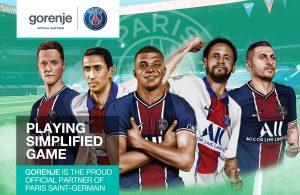 Gorenje ist nun offizieller Sponsor von Paris Saint-Germain.