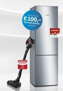 Bis zu 100 Euro Caschback gibt es ab heute auf ausgewählte Produkte von Bosch Hausgeräte.