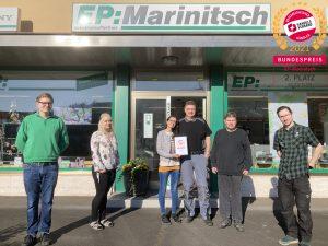 """EP:Marinitsch belegte den 2. Platz in der Kategorie """"Beliebtester Kleinsthändler""""."""