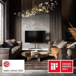 Mit seinen neuen TV- und Audioprodukten erzielte Loewe die neue Bestmarke von zehn iF Design Awards und erhielt außerdem sechs Red Dot Awards.