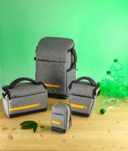 Umweltschonend und ohne Kompromisse – die neuen Hama Kamerataschen aus recycelten PET-Flaschen.