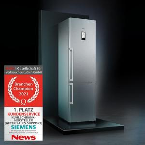 Das Branchen-Champion-Siegel erhielt Siemens dieses Jahr in der Kategorie Kühlschränke,
