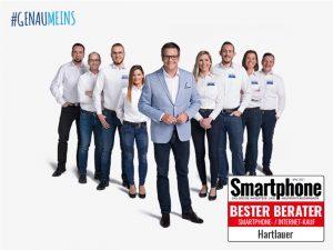 Auch heuer testete das Smartphone Magazin erneut die Handy- und Internetberatung in Österreich. Dank gut geschulter und motivierter Mitarbeiter, wurde Hartlauer auch 2021 wieder zum Testsieger gewählt. (Bild: Hartlauer.at)