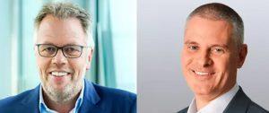 Kai Hillebrandt (re.) schied aus dem Aufsichtsrat der gfu Consumer & Home Electronics GmbH aus. Sein Nachfolger ist Volker Klodwig (li.). (Bild: gfu)