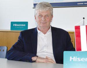 Christian Blumberger will mit Hisense unter die Top 3 am österreichischen Markt.
