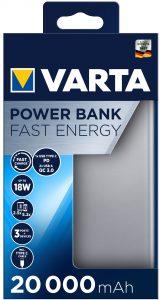 Die neuen Fast Energy Power Banks mit USB Type C PD und Quick Charge von Varta.