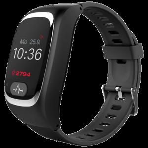 Die JAMES Notfalluhr sieht aus wie eine Smartwatch, ermöglicht auf Knopfdruck Sprachverbindungen zu den hinterlegten Rufnummern, kann angerufen werden, verfügt über GPS und kann wie ein Handy angerufen werden.