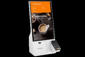 Mit seinem Kiosk bietet Samsung eine standardisiert Lösung für Bestell- und Bezahlvorgänge in einem Shop.