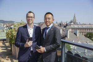 Präsentiert wurde das Smartphone vom neuen General Manager ZTE Austria Jin Zizheng sowie PM Manuel Schuh.