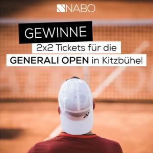 """""""Satzball Nabo"""": Auch heuer ist Nabo wieder offizieller Partner der ATP 250 Generali Open in Kitzbühel."""
