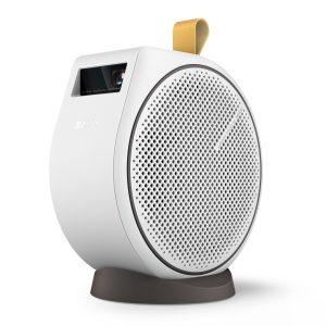 Der tragbare Mini Beamer GV30 von BenQ kann nicht nur Bild, sondern auch Sound.